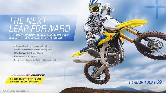 Suzuki Fall Suzukifest Motocross and Offroad Motorcycle Financing as Low as 0% APR for 36 Months or Customer Cash Offer